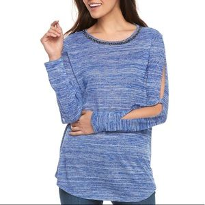 w/TAG JUICY COUTURE embellished Long Sleeve TOP